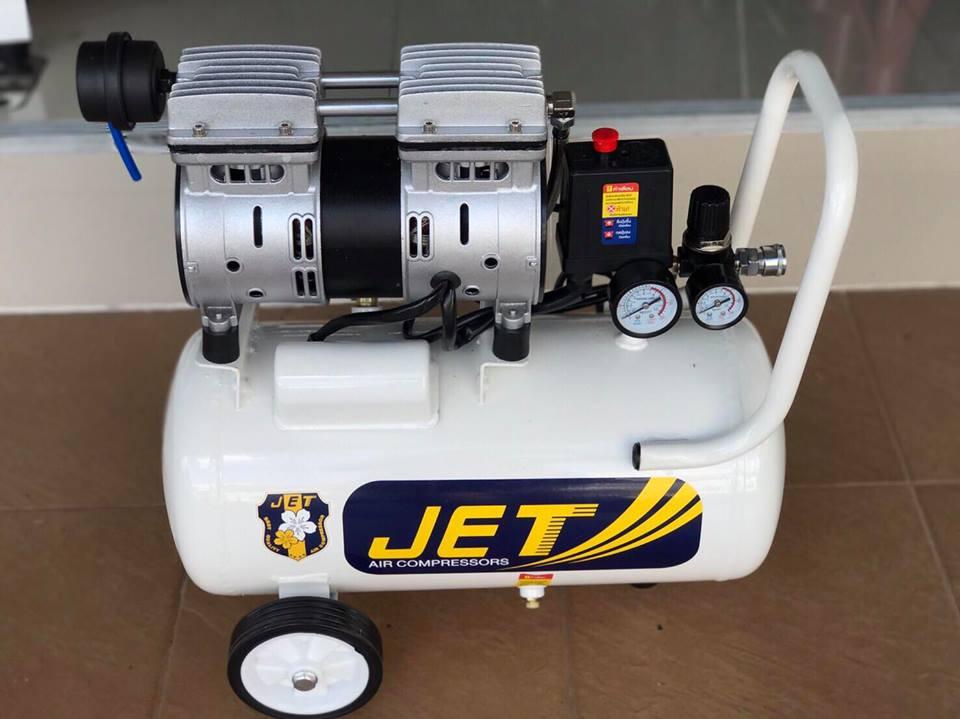 ปั้มลมเสียงเงียบไร้น้ำมัน JET 25ลิตร