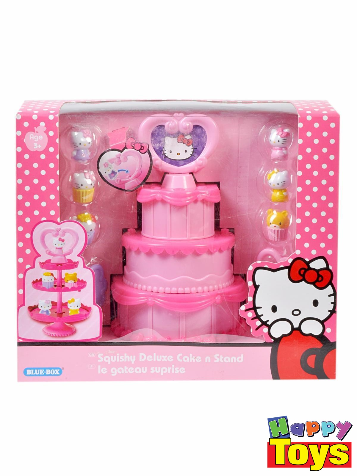 Hello Kitty Squishy Deluxe Cake n Stand Le gateau suprise คิตตี้ ขนมเค้ก
