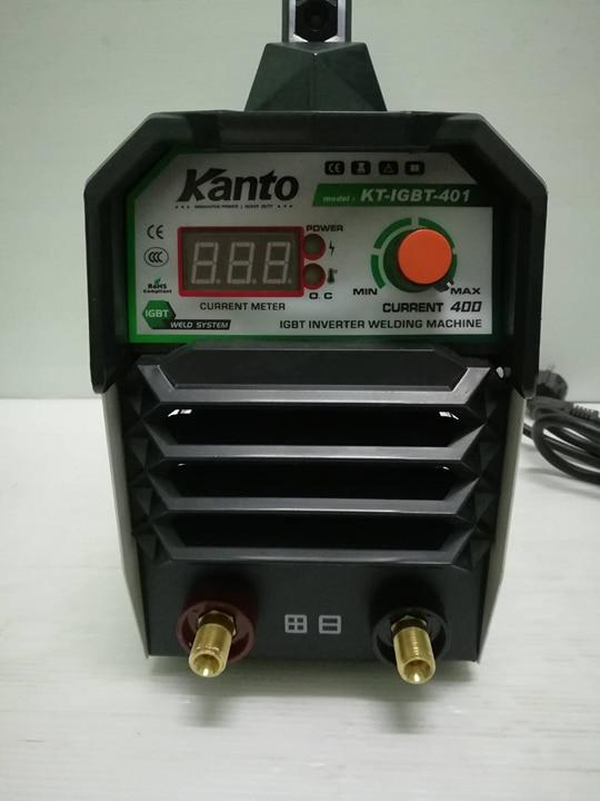 เครื่องเชื่อมไฟฟ้าMMA kt-Igbt 400Amp. Kanto แถมฟรี สายเชื่อม หน้ากาก ด้ามเคาะแปลงลวด