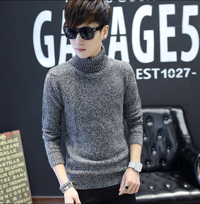 HQ Winter sweater CM123 (สีเทา)