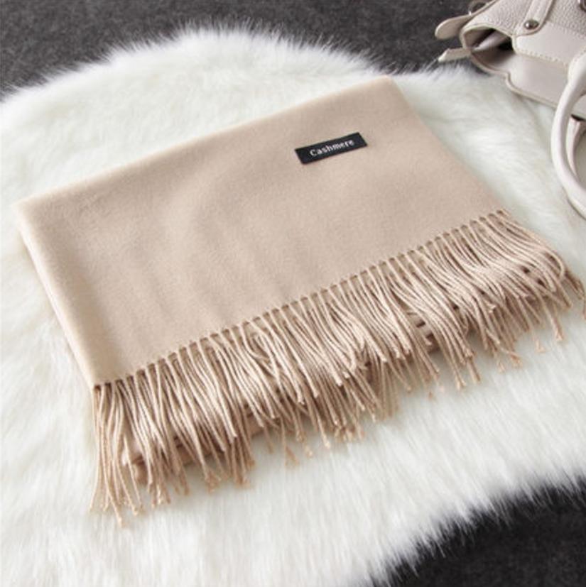 Imitation cashmere scarft ผ้าพันคอ (สี Beige)