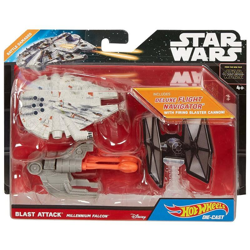 โมเดลรถเหล็ก Hotwheel โมเดล Star ware hotwheel starwars ชุด Blast AttacK