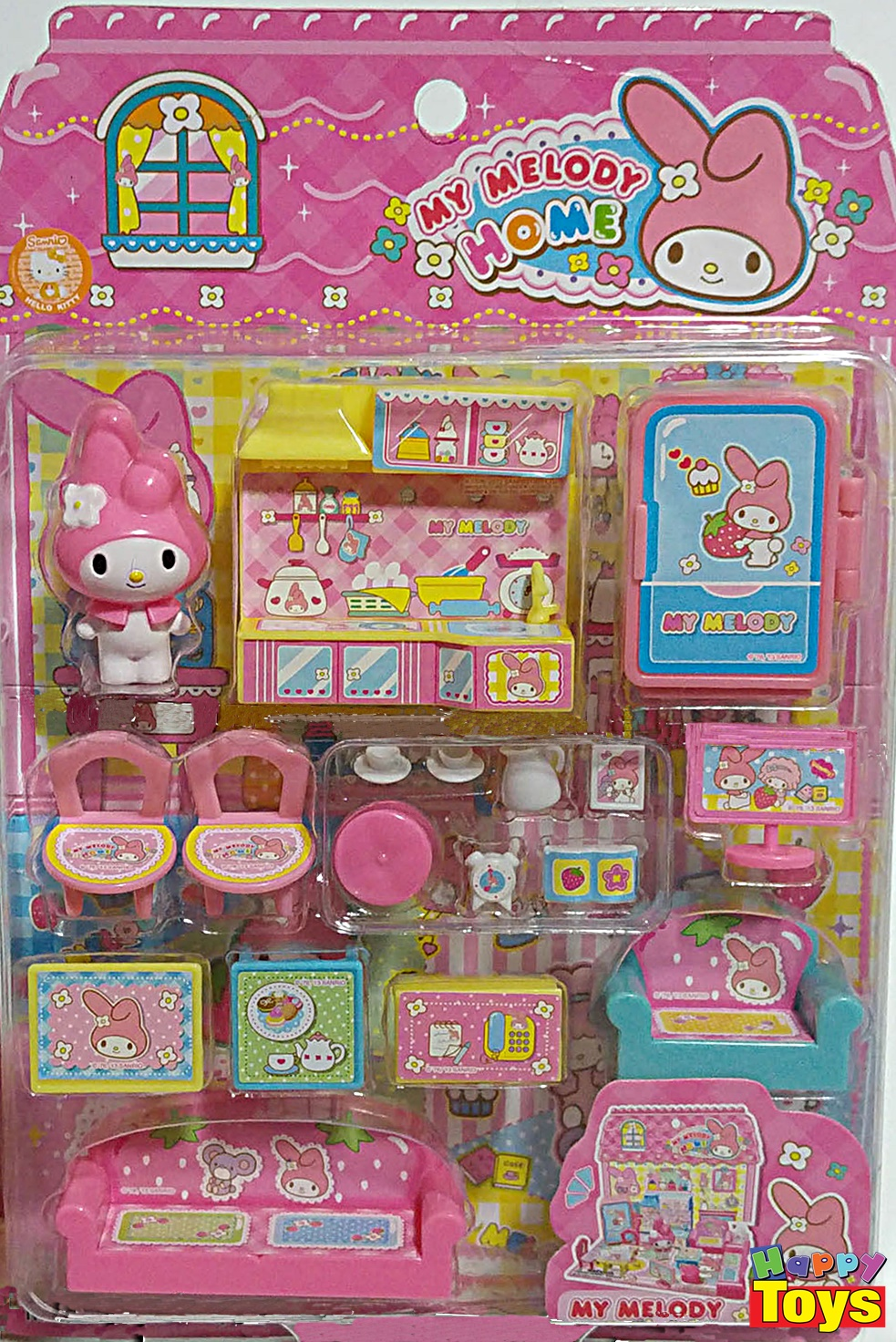 My Melody Home Miniature Play Set