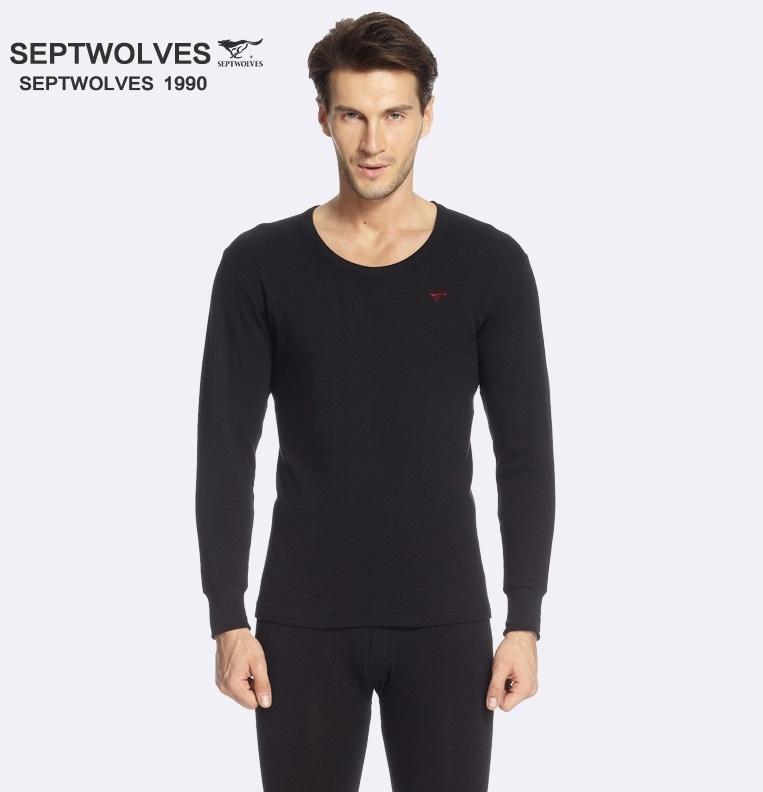 ชุดลองจอนลองจอนผู้ชายสีดำ (เสื้อ+กางเกง)