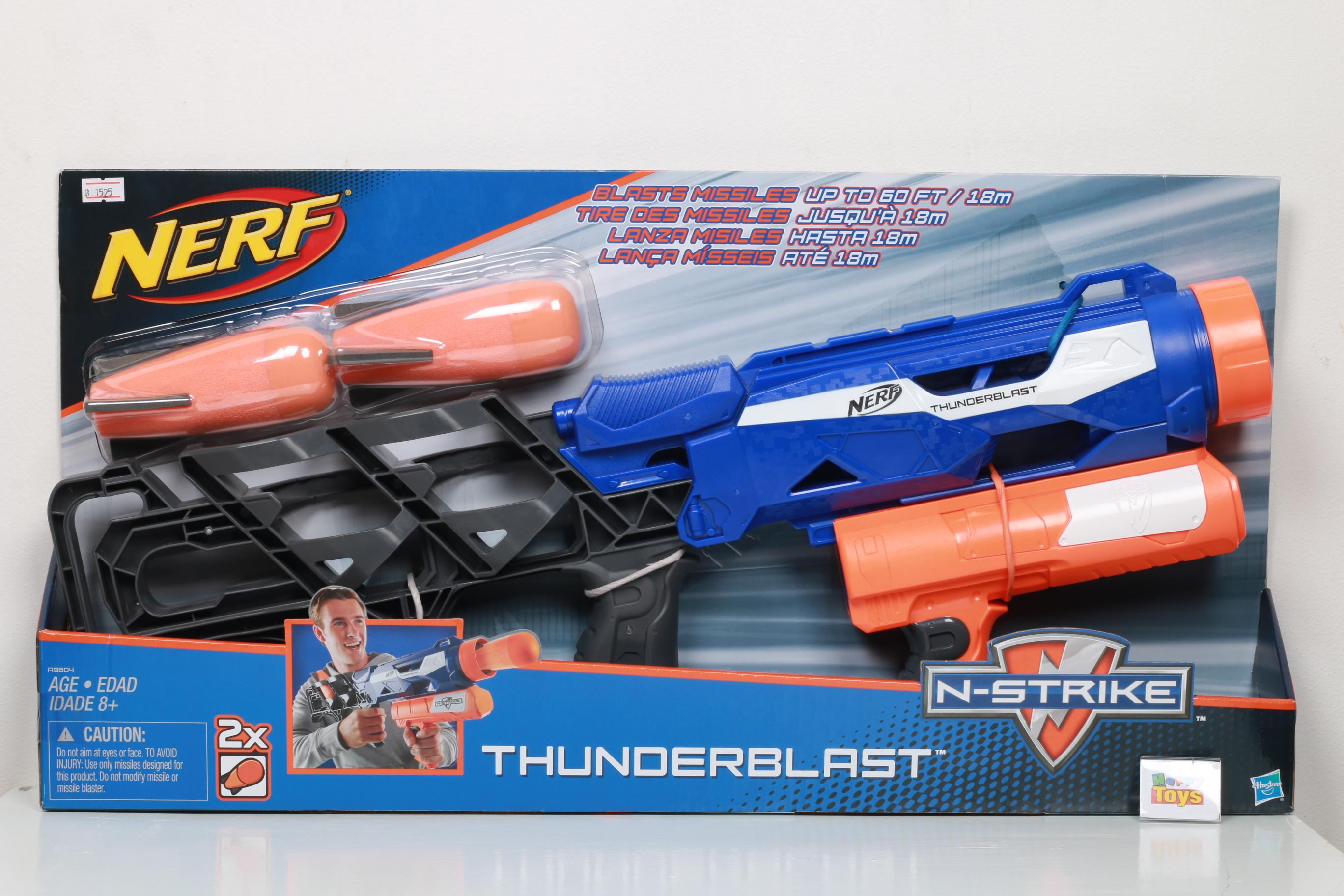 ปืนเนิร์ฟ nerf รุ่น THUNDERBLAST ลิขสิทธิ์แท้ ปืนNerfแท้ ไม่เป็นอันตราย ปืนกระสุนฟองน้ำ