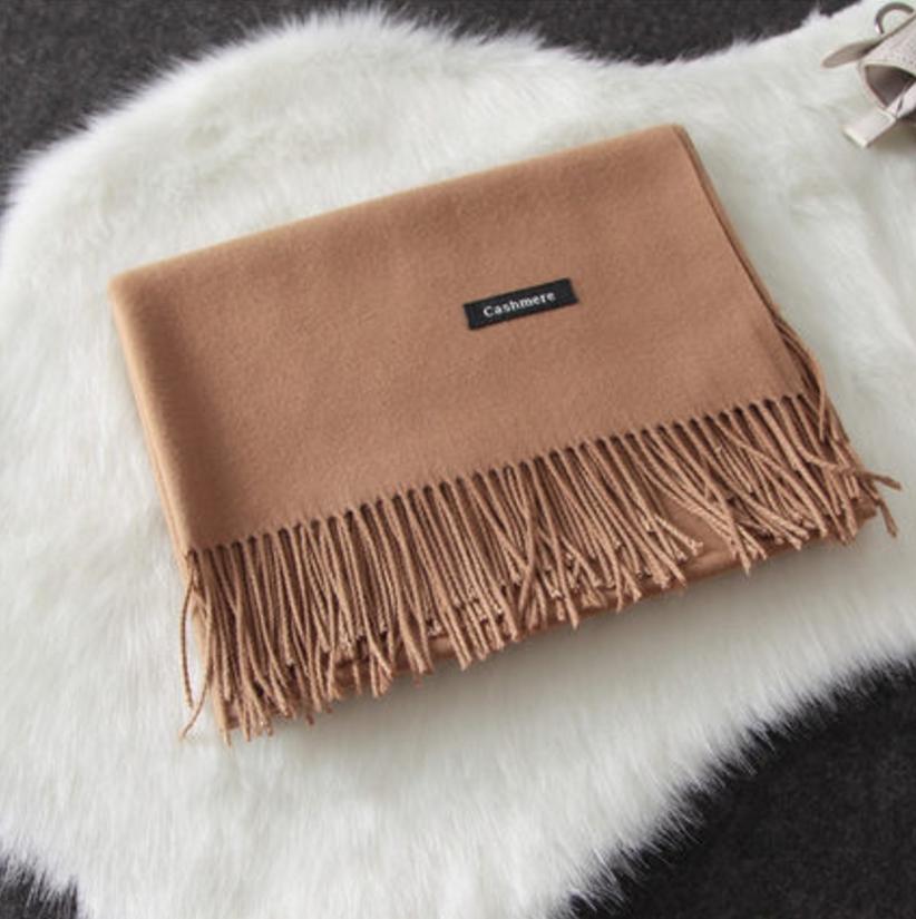 Imitation cashmere scarft ผ้าพันคอ (สีน้ำตาล)