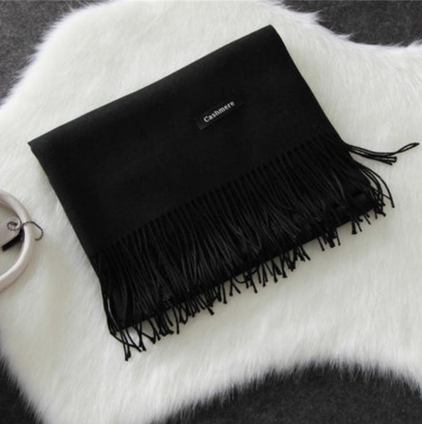 Imitation cashmere scarft ผ้าพันคอ (สีดำ)