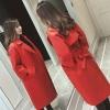เสื้อโค้ท PASSM คุณภาพดี ผ้า Wool กันหนาว (สีแดง)