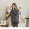 High quality knitted sweater women (สีเทาเข้ม)