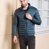 Men's Ultra light slim Down jacket ผสมขนเป็ด Duck down 90% !! (Emerald)