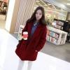 เสื้อโค้ท Winter autume woolen coat tide สีแดง