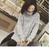 เสื้อกันหนาว High quality knitted sweater women (สีเทา)