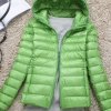 Women's Ultra light slim Down jacket ผสมขนเป็ด Duck down 90% !! (สีเขียว)