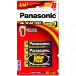 ถ่าน Panasonic AAA อัลคาไลน์ แพ็คละ8ก้อน