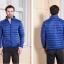 Men's Ultra light slim Down jacket ผสมขนเป็ด Duck down 90% !! (สีน้ำเงิน) thumbnail 2