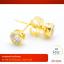 RTN204 ต่างหู ตุ้มหู ทองคำ ประดับเพชร (เพชรใหญ่) thumbnail 1