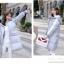 Korean girl's long winter jacket (Grey) thumbnail 4