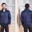 Men's Ultra light slim Down jacket ผสมขนเป็ด Duck down 90% !! (สีกรม) thumbnail 2