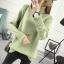 SUMIYA women sweater กันหนาว คุณภาพดี (สีเขียว) thumbnail 6