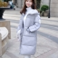 Korean girl's long winter jacket (Grey) thumbnail 5