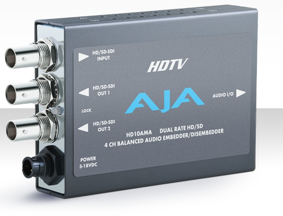 AJA HD10AM HD/SD 8 Channel AES Embedder/Disembedder