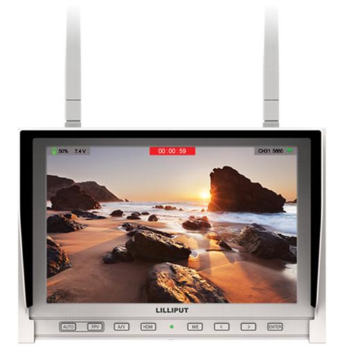 จอมอนิเตอร์ Lilliput 339/DW 7quot; FPV Monitor with Dual Built-in 5.8GHz Wireless (White)