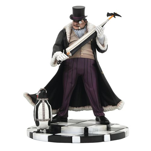 NEW DC GOTHAM SELECT THE PENGUIN DELUXE ACTION FIGURE W// BASE 7 INCHES